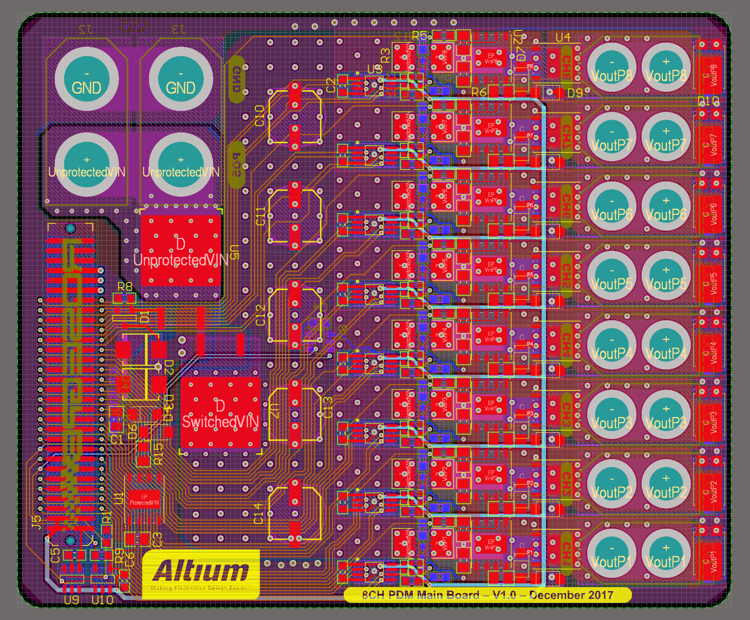 Main Board Design in Altium