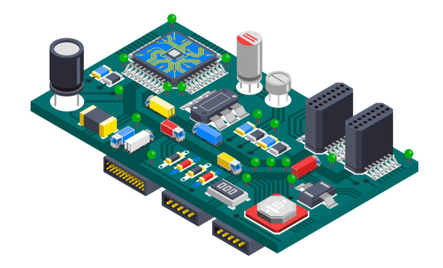 Components on printed circuit assembly
