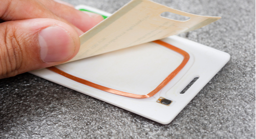 Under the layer look at RFID cards