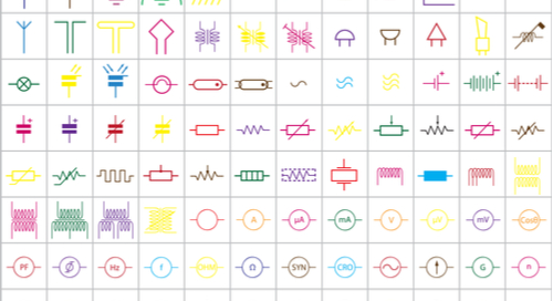 Table of electrical symbols