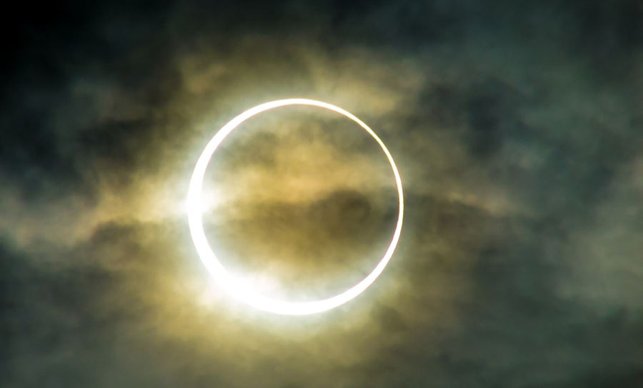 Photo of an annular eclipse