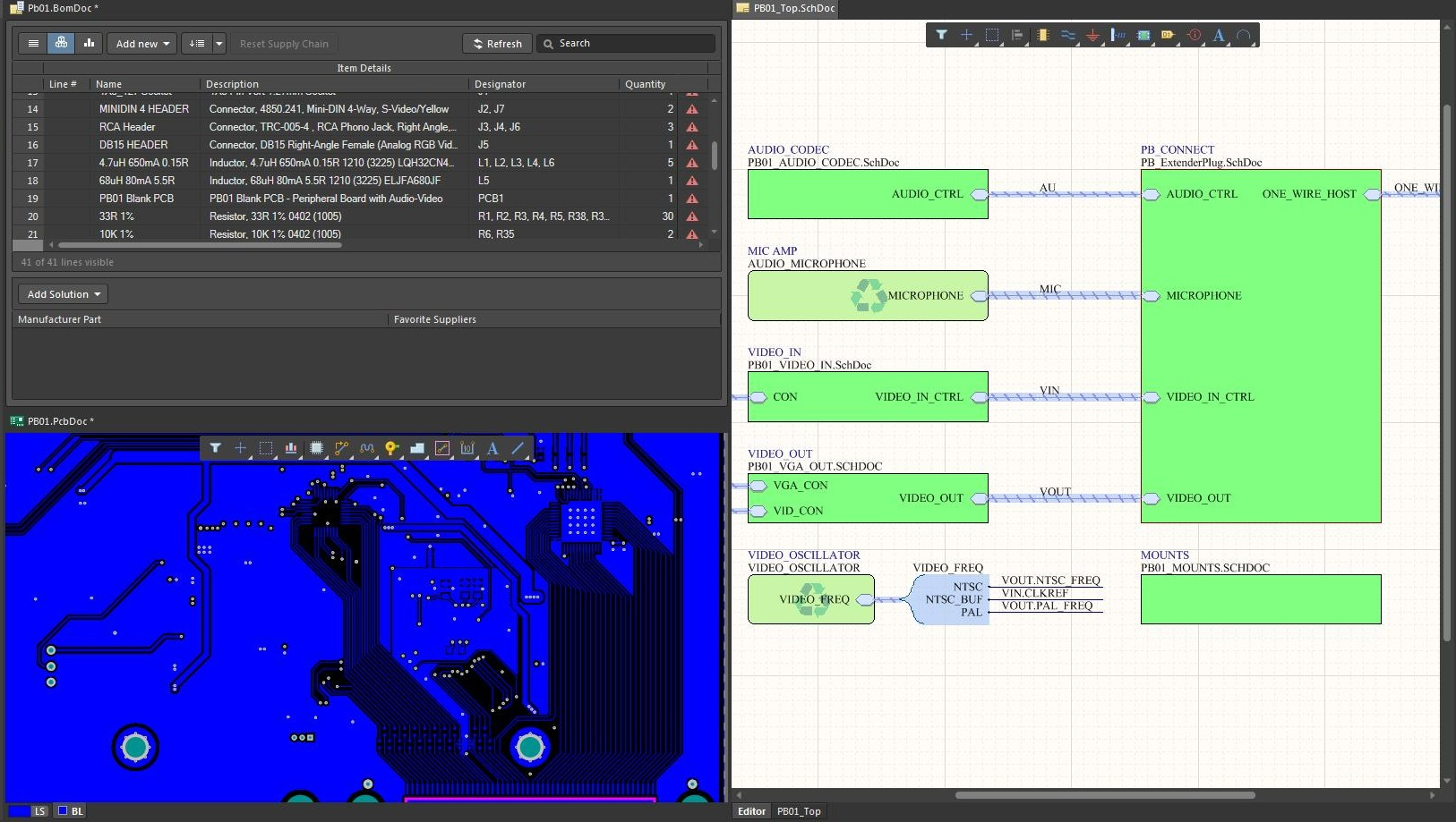 Screenshot of AD18 unified design environment in the cost of CAD software