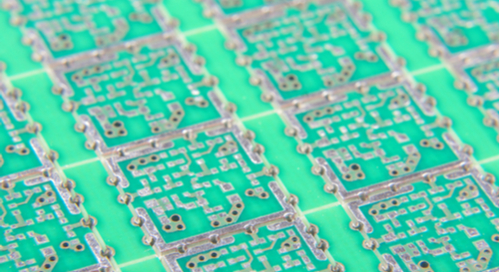 Panelized PCBs prepared for assembly