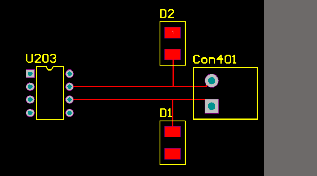 Layout of component placement with appropriate board edge clearance