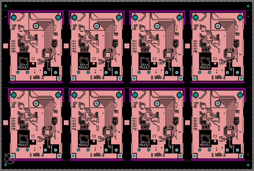Copper circuit boards panelized for manufacturing