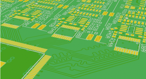 PCB with length-matched differential pairs