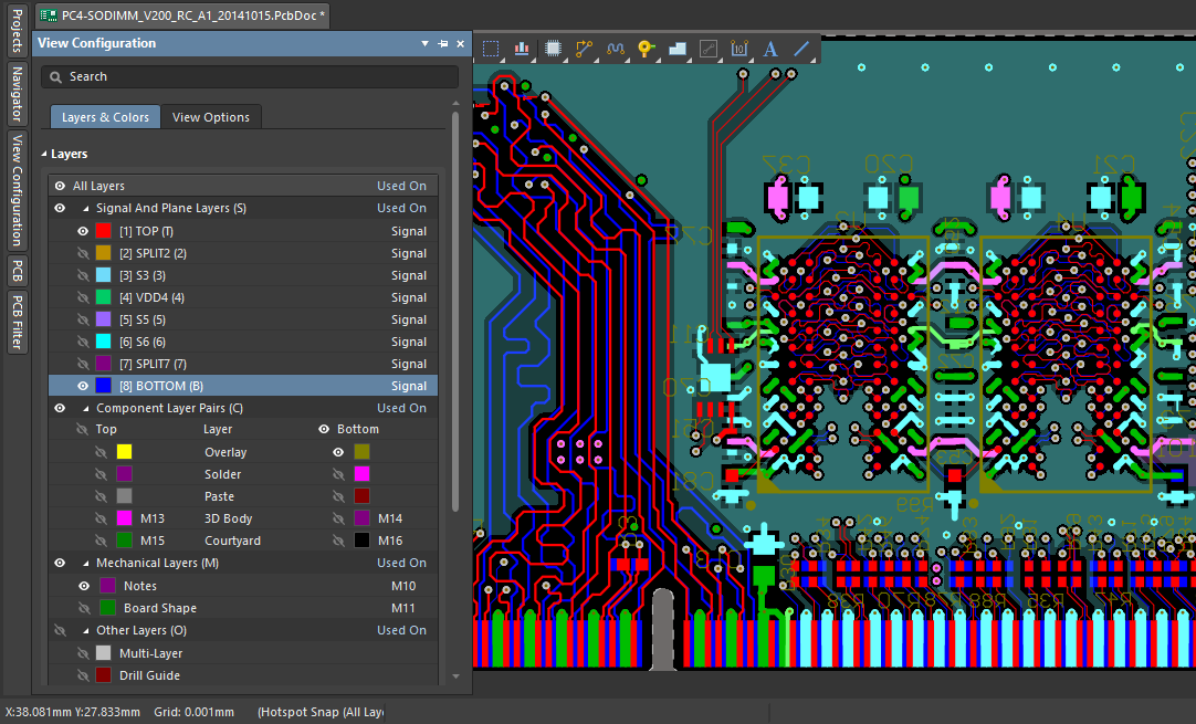 Screenshot of the View Configuration window in Altium
