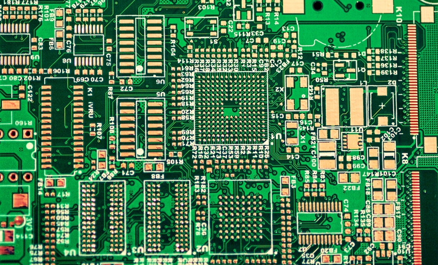 PCB prepped for BGA placement