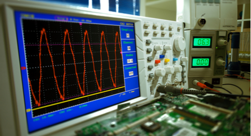 Waveform measurement with an oscilloscope