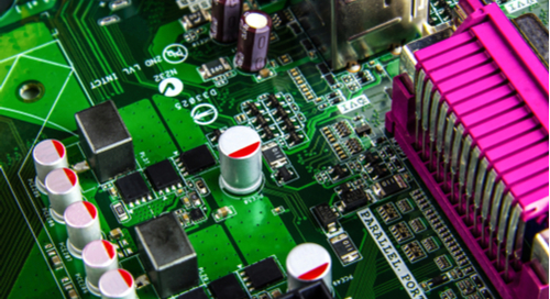 Embedded system design on a green PCB