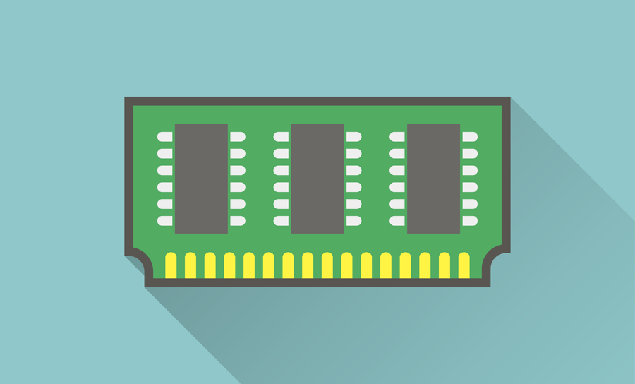 Icon of memory chip