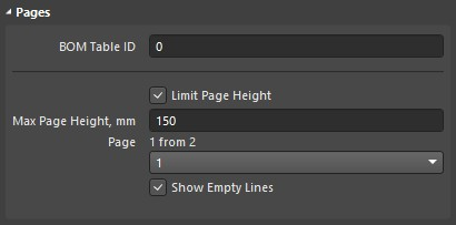 Setting the limit page height