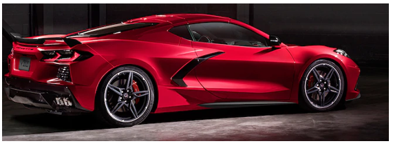 A new 2020 Corvette red sports car