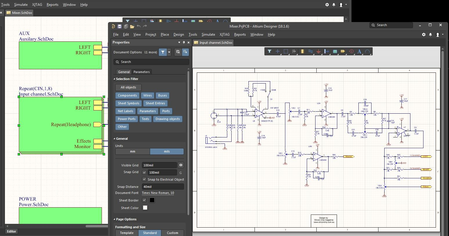 Flat vs. hierarchical schematics in Altium Designer