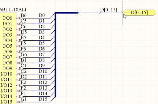 Screenshot of a schematic showing a bi-directional bus