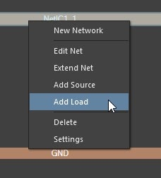 Altium PDN Analyzer right-click a net -> Add Load