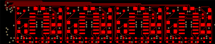 Multi channel PCB design layout example