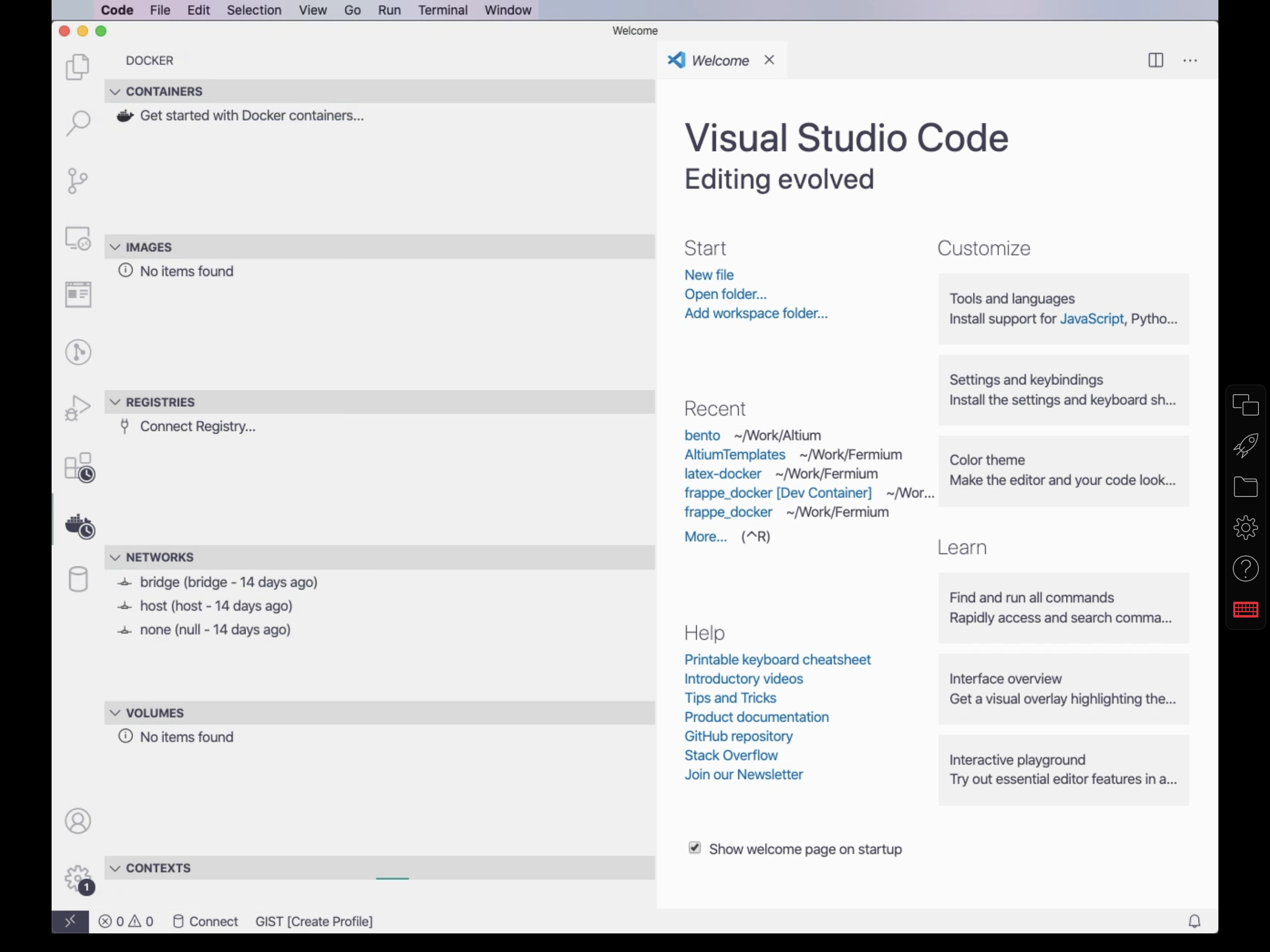Parallels Access accessing Visual Studio Code from my MacBook Pro at home
