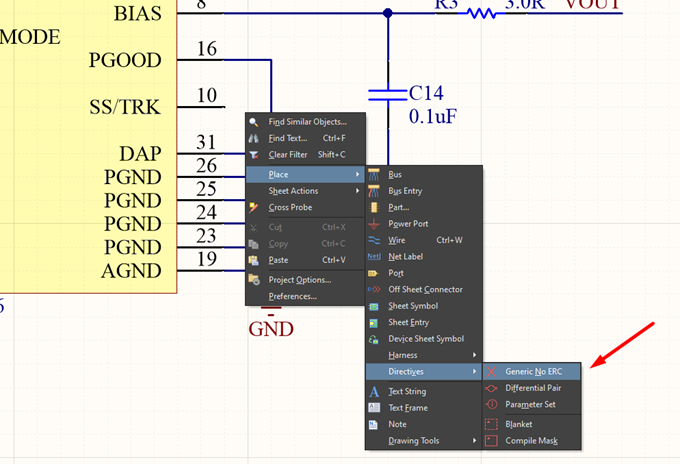 Assigning Generic No ERCs to the USB charger project in Altium Designer