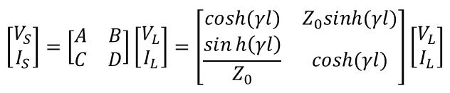 Transfer function from ABCD parameters