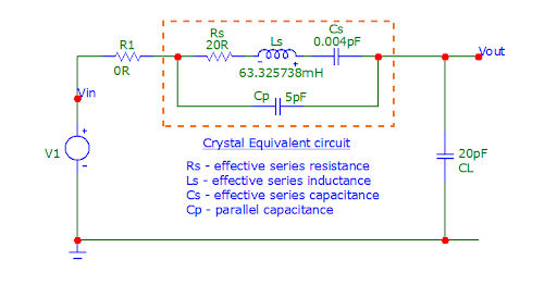 simple circuit around the crystal and then analyzing the resulting transfer function